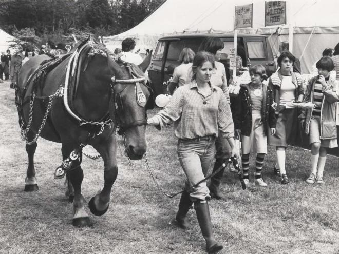 Me leading Duchess, Norfolk Show 1976